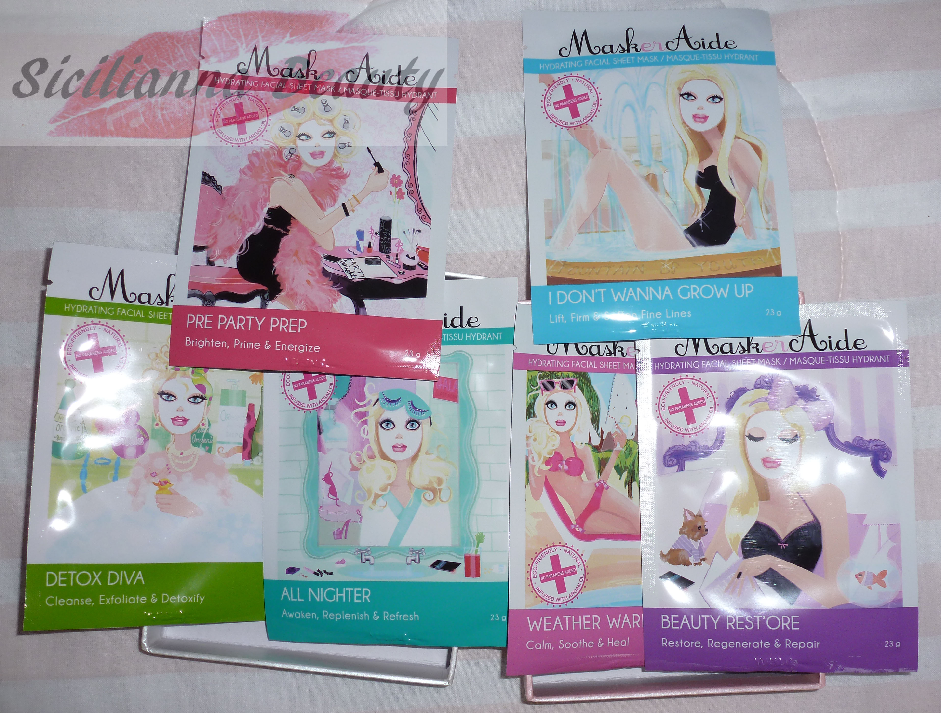 REVIEW & GIVEAWAY (CLOSED- WINNER ANNOUNCED): MaskerAide Facial Sheet Masks