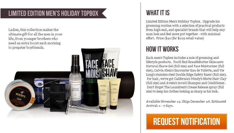 Limited Edition Men's Holiday TOPBOX