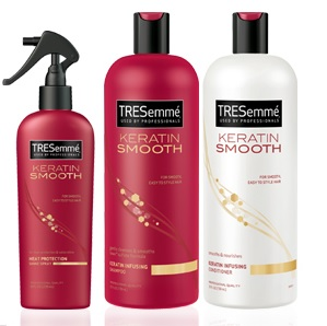 REVIEW: Tresemme Keratin Smooth Shampoo+Conditioner+Heat Protection Spray