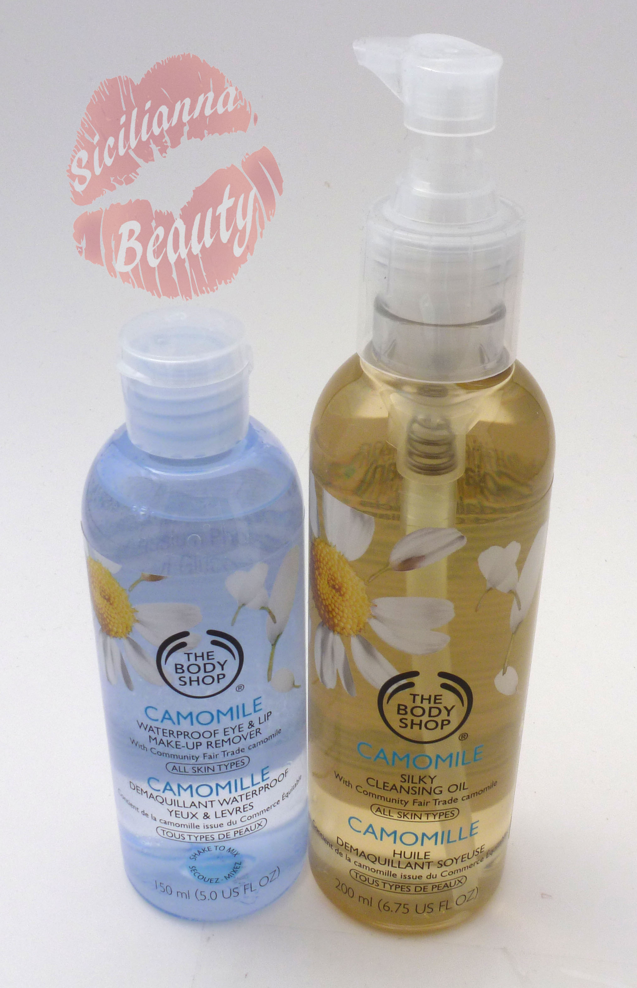REVIEW: The Body Shop Camomile Eye/Lip Makeup Remover and Camomile Silky Cleansing Oil