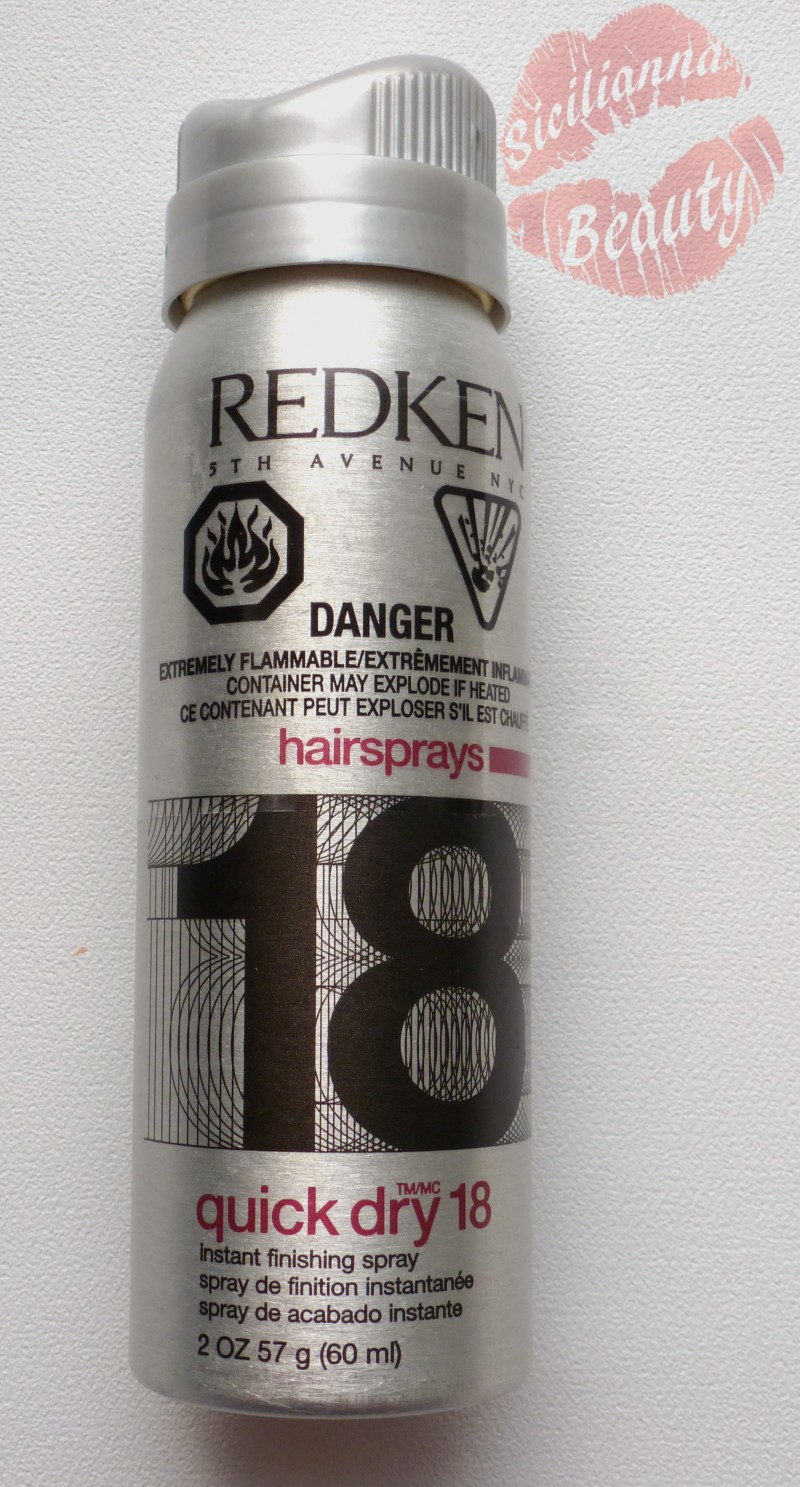REVIEW: Redken Quick Dry 18 Instant Finishing Spray