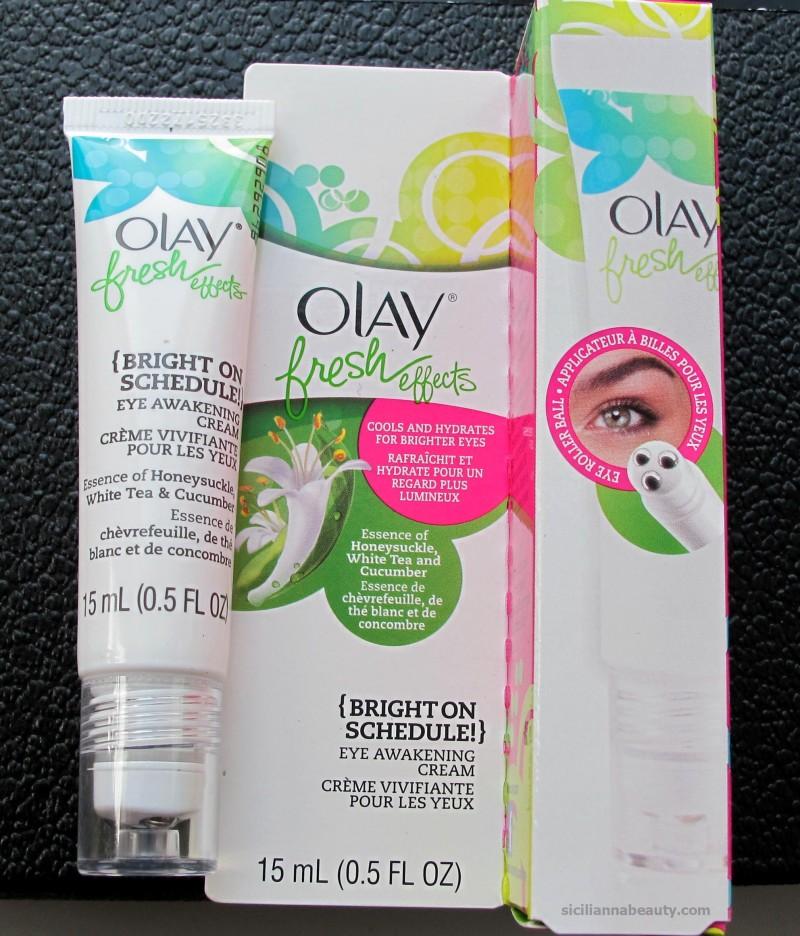 Review: Olay Fresh Effects {Bright On Schedule} Eye Awakening Cream