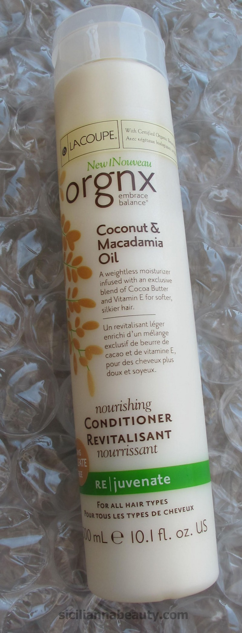 REVIEW: LaCoupe Orgnx Coconut and Macadamia Oil Nourishing Conditioner