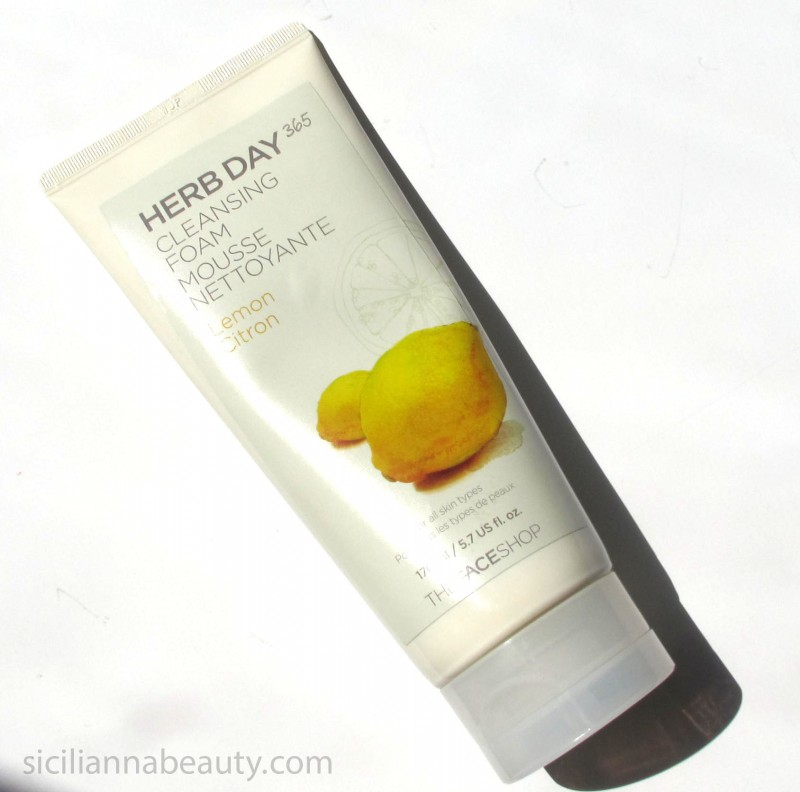 REVIEW: THEFACESHOP Herb Day 365 Lemon Cleansing Foam
