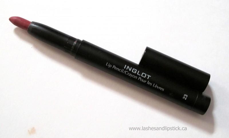 REVIEW: Inglot AMC Lip Pencil Matte in #23