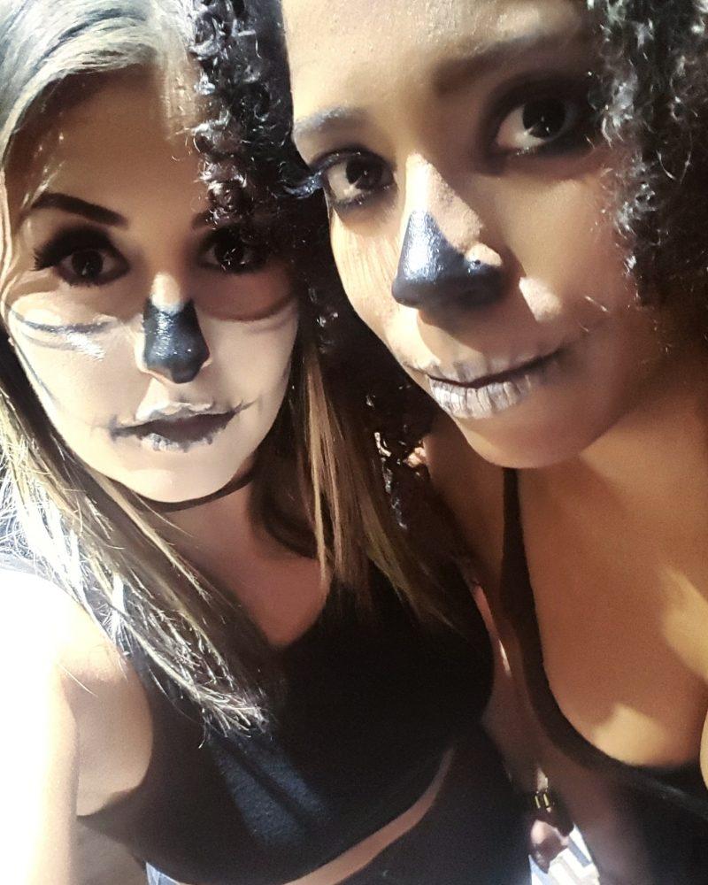 Happy Halloween! { Skull Face Makeup }