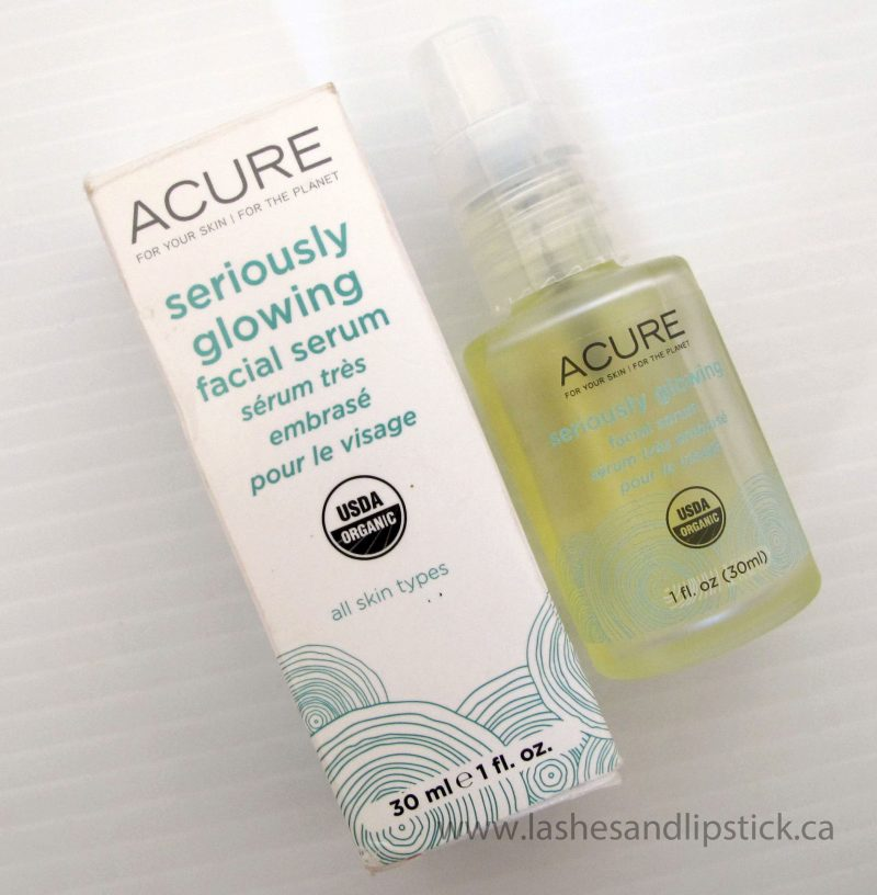 Acure Seriously Glowing Facial Serum Has My Skin Seriously Glowing!